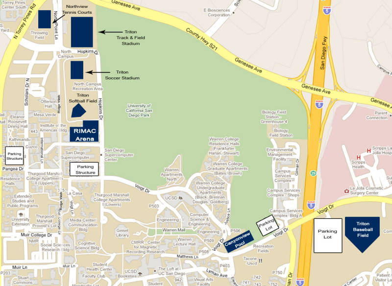 university of california san diego campus map Directions Uc San Diego