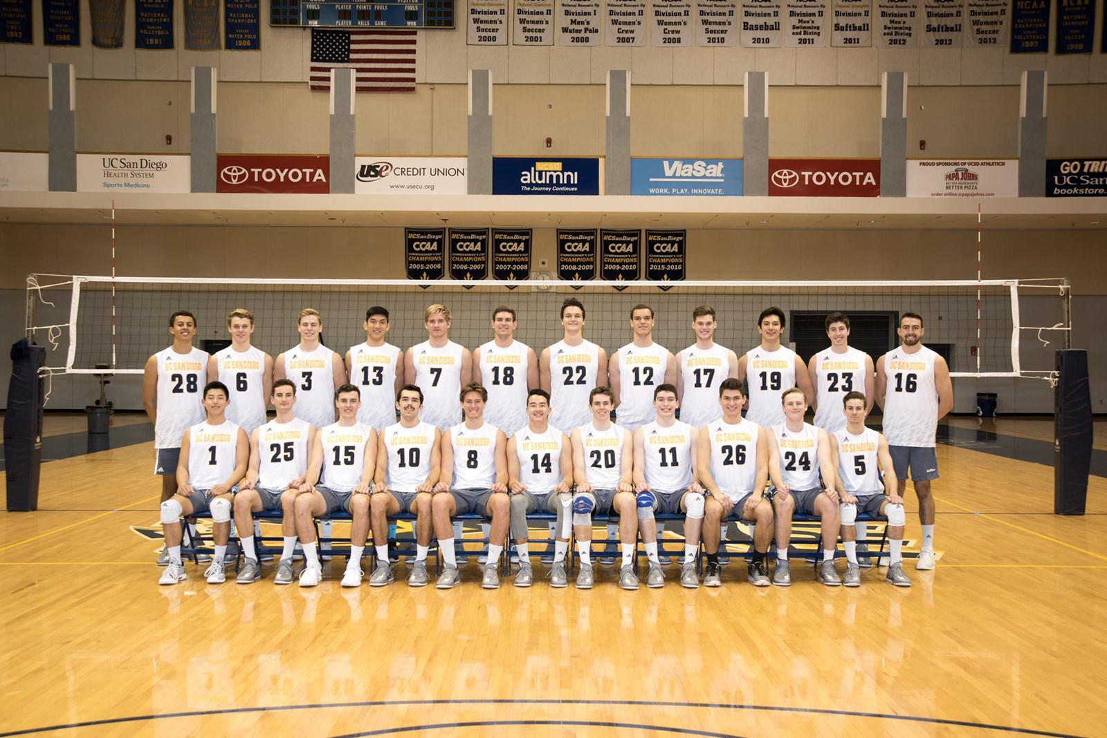 2018 Men S Volleyball Roster Uc San Diego